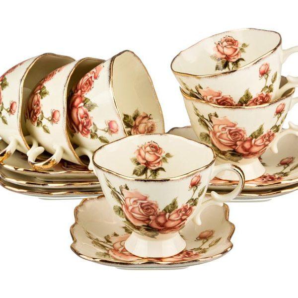 """Чайный набор """"Корейская роза"""" на 6 персон"""