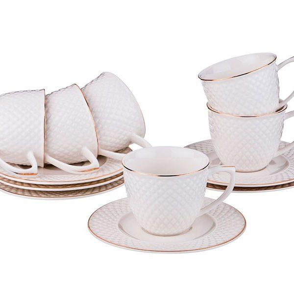 """Кофейный набор """"Диаманд Голд"""" на 6 персон, 12 предметов, 100 мл."""