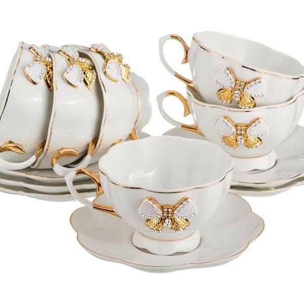 Чайный набор на 6 персон с бантиком